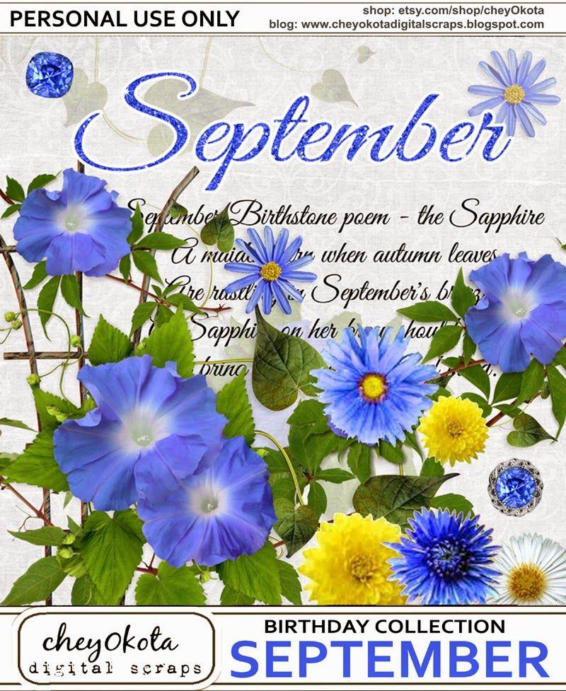 cheyOkota digital scraps / PU September flowers