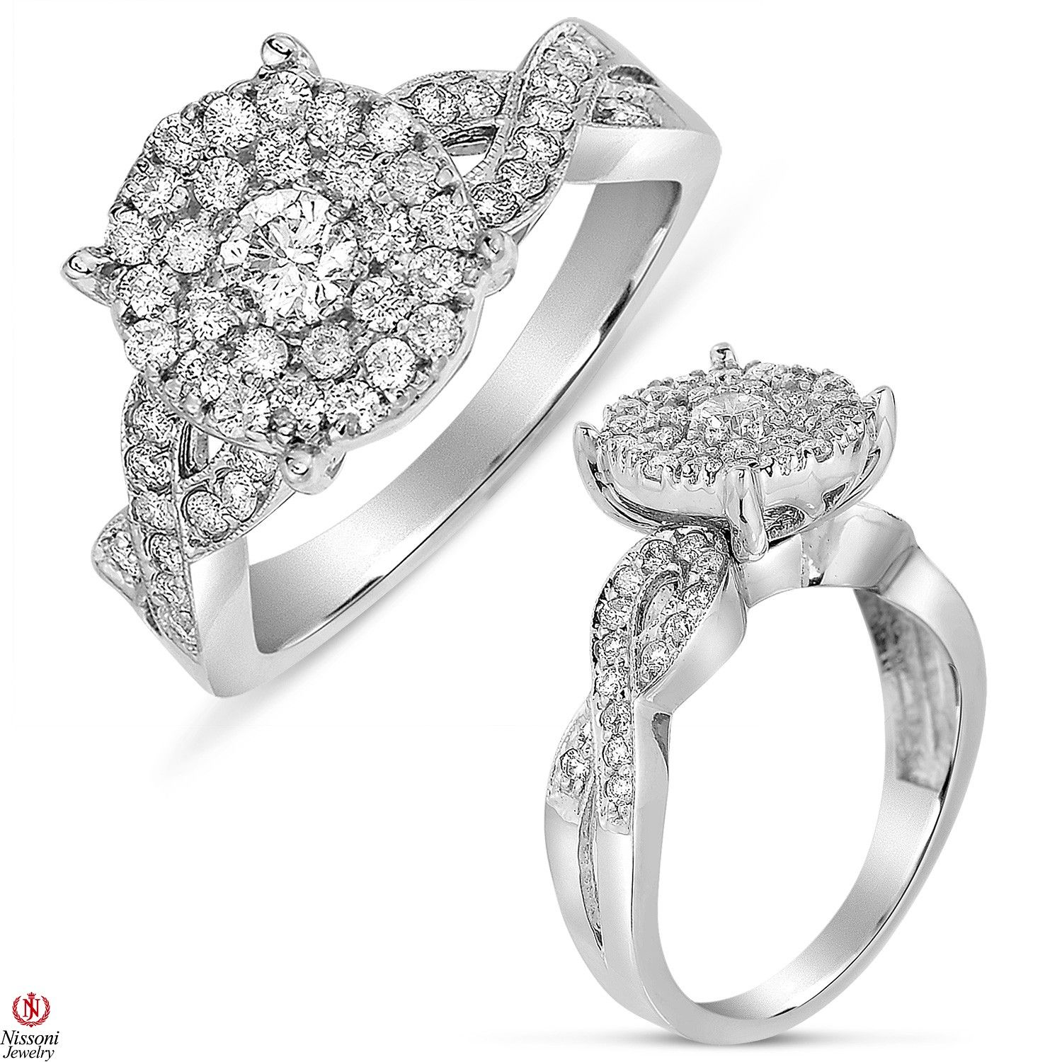 Ebay NissoniJewelry presents La s Diamond Cluster Engagement