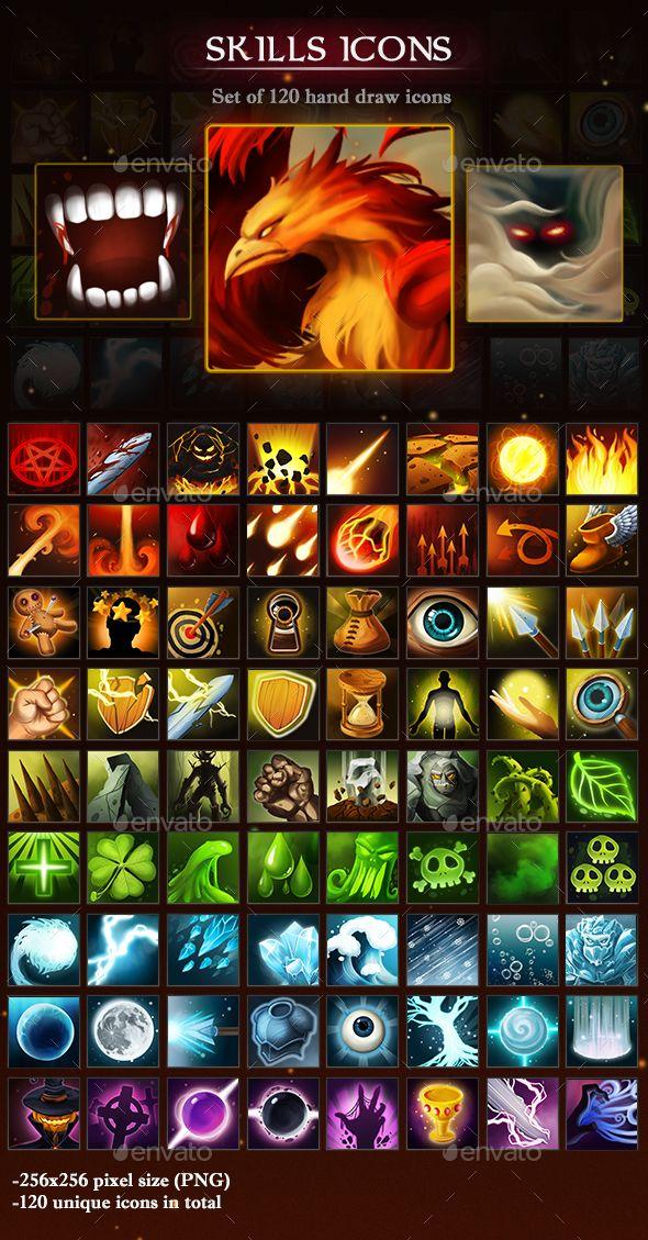 Skills Icons Game Icon Game Icon Design Modern Games