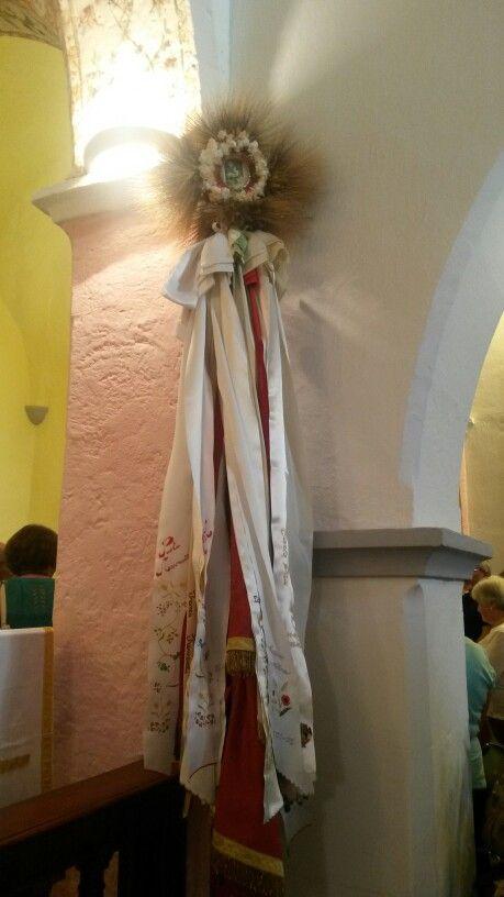 La Bandiera del Gremio dei Contadini dentro la chiesa di San Giovanni dei Fiori