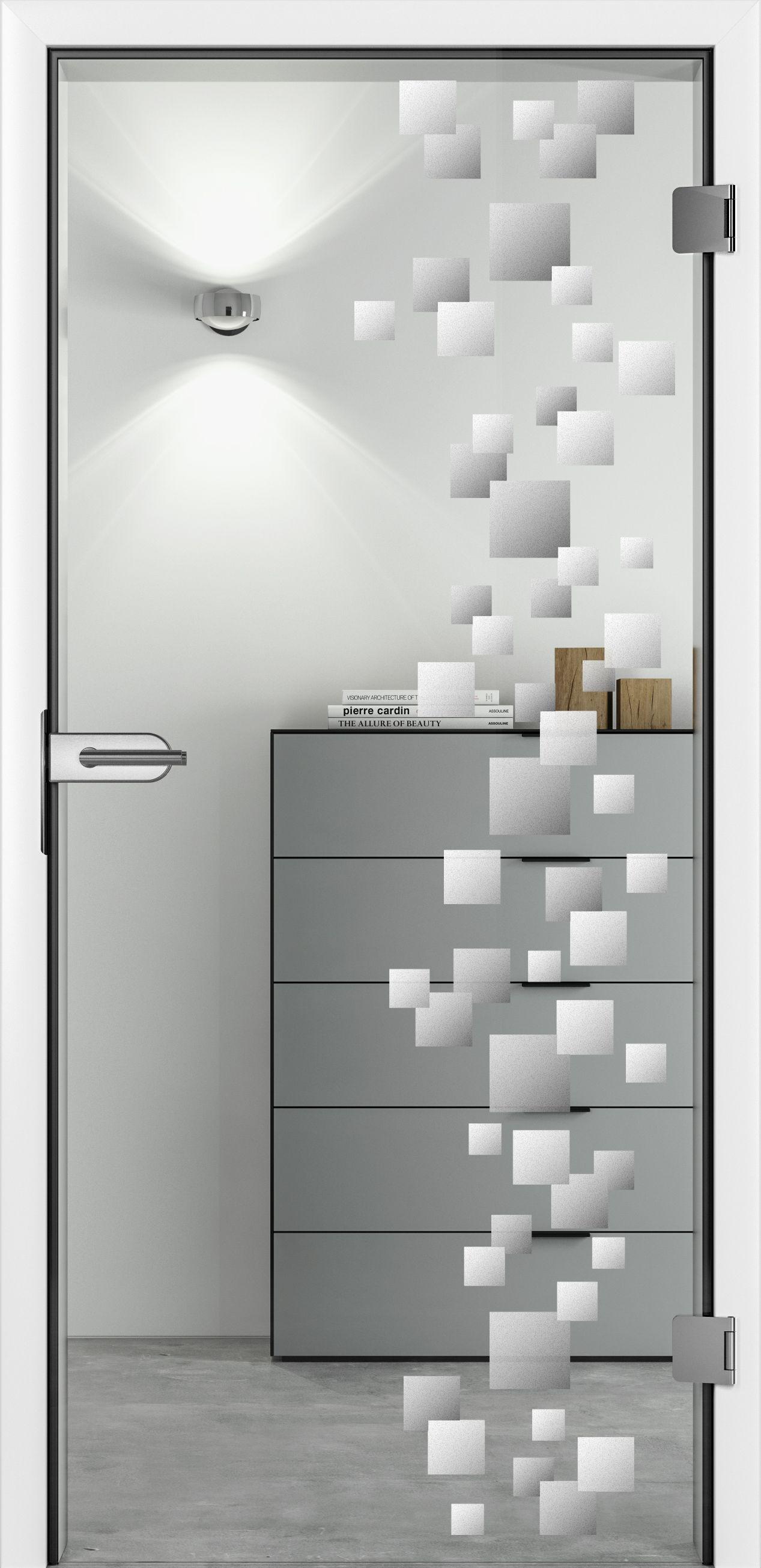 Unsere Glastür Cube mit mattem Motiv. Eine ideenreiche ...