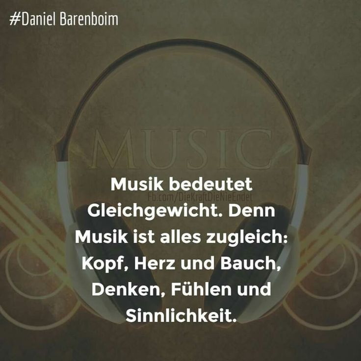 Musik bedeutet Gleichgewicht. Denn Musik ist alles zugleich: Kopf, Herz und Bauc… – Bea Thielke