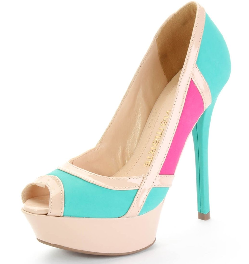 Zapatos peep toe de color-blocking NWhDxNY