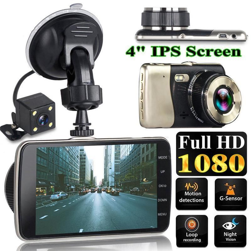 HD 1080P Dual Lens Car Dash Cam DVR Camera Video Recorder G-sensor Night Vision