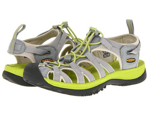 Keen Whisper Neutral Gray Bright Chartreuse Zappos Com