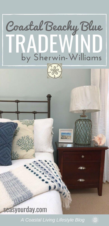 SherwinWilliams Tradewind Paint Color, coastalPaintColor