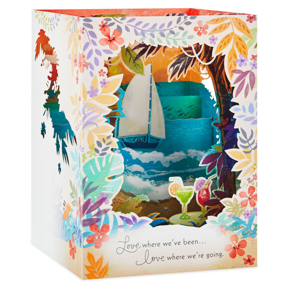Love Anywhere With You 3d Pop Up Anniversary Card Anniversary Cards Hallmark Greeting Cards Pop Up Box Cards