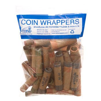 36 Count Roll Office Products Crimped Assorted Coin Wrappers