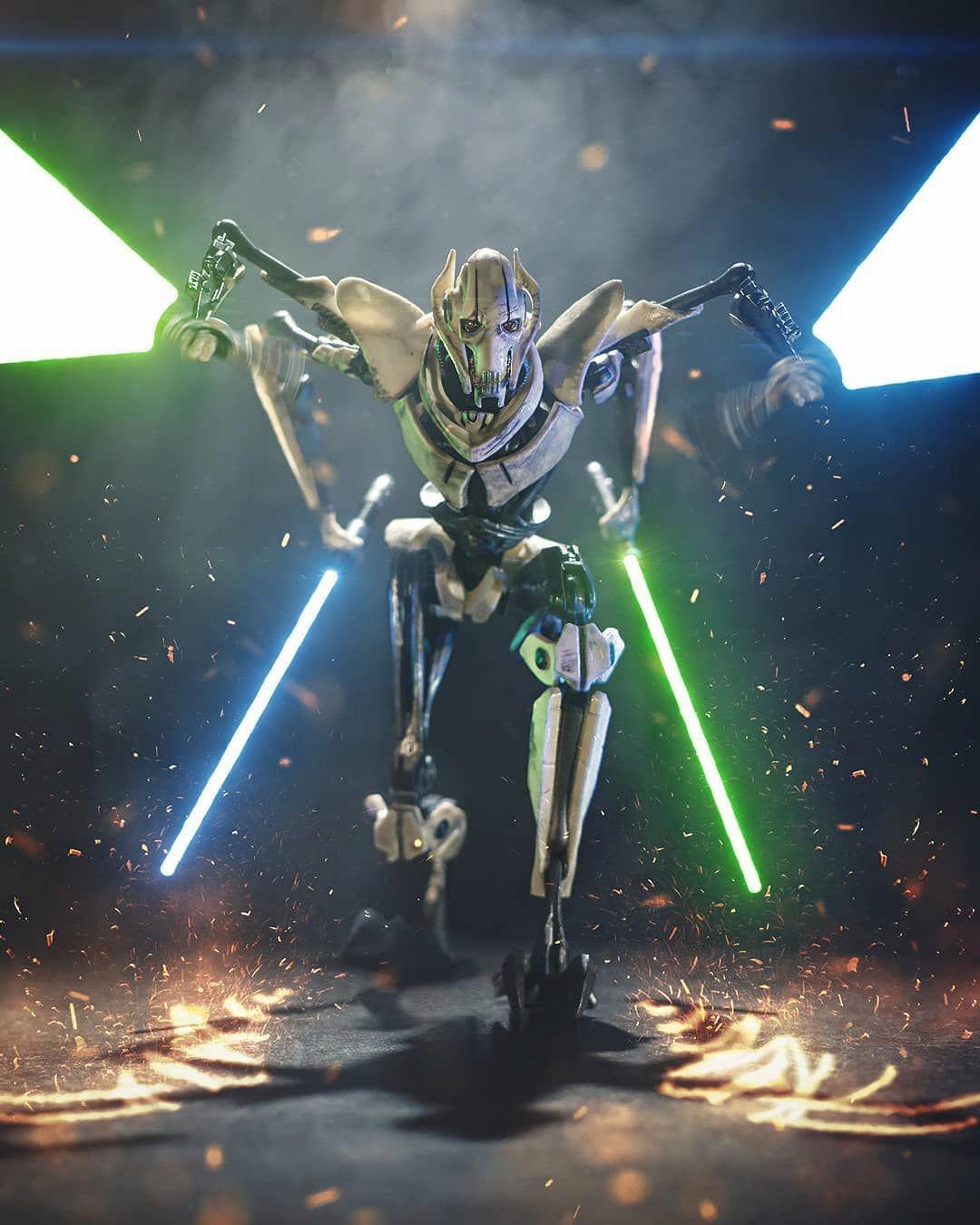 El Militar Grievous Star Wars Villains Star Wars Background Star Wars Wallpaper