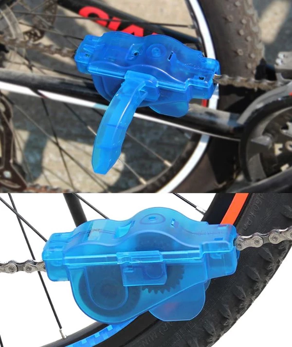 Portable Bicycle Chain Cleaner Bicycle Motocross Helmets