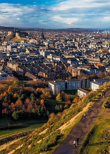 Edinburgh - Arthurs Seat View. I actually hiked in the dark to the top of Arthur's Seat to watch the sun rise.