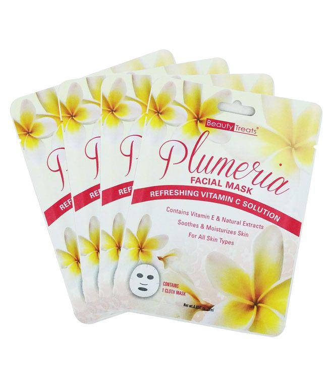 Beauty Treats Plumeria Facial Mask Unit Price 0 75 2 Dozen Pack Beauty Treats Facial Masks Beauty