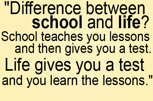 Funny Quotes About School Life