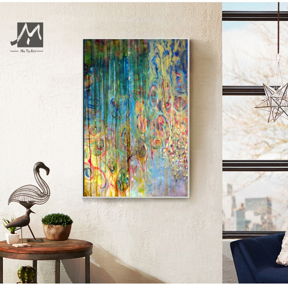 Large canvas wall art decorative pictures acrylic painting handmade