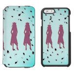 Aqua and Pink Grad Girl Silhouettes iPhone 6/6s Wallet Case