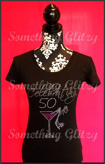 50th Birthday Shirt Fabulous At 50 Bling Tank By SomethingGlitzy