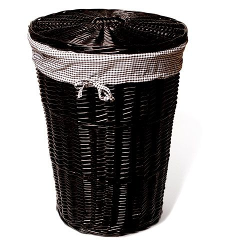 Large Wicker Laundry Hamper In Black Your Pick Of Liner Colors