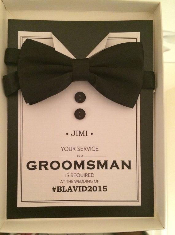 Suit Up Bow Tie Groomsman Bundle Best Man Usher No Groomsman Jr PW3006 Printable Will you be my Best Man Ring Bearer