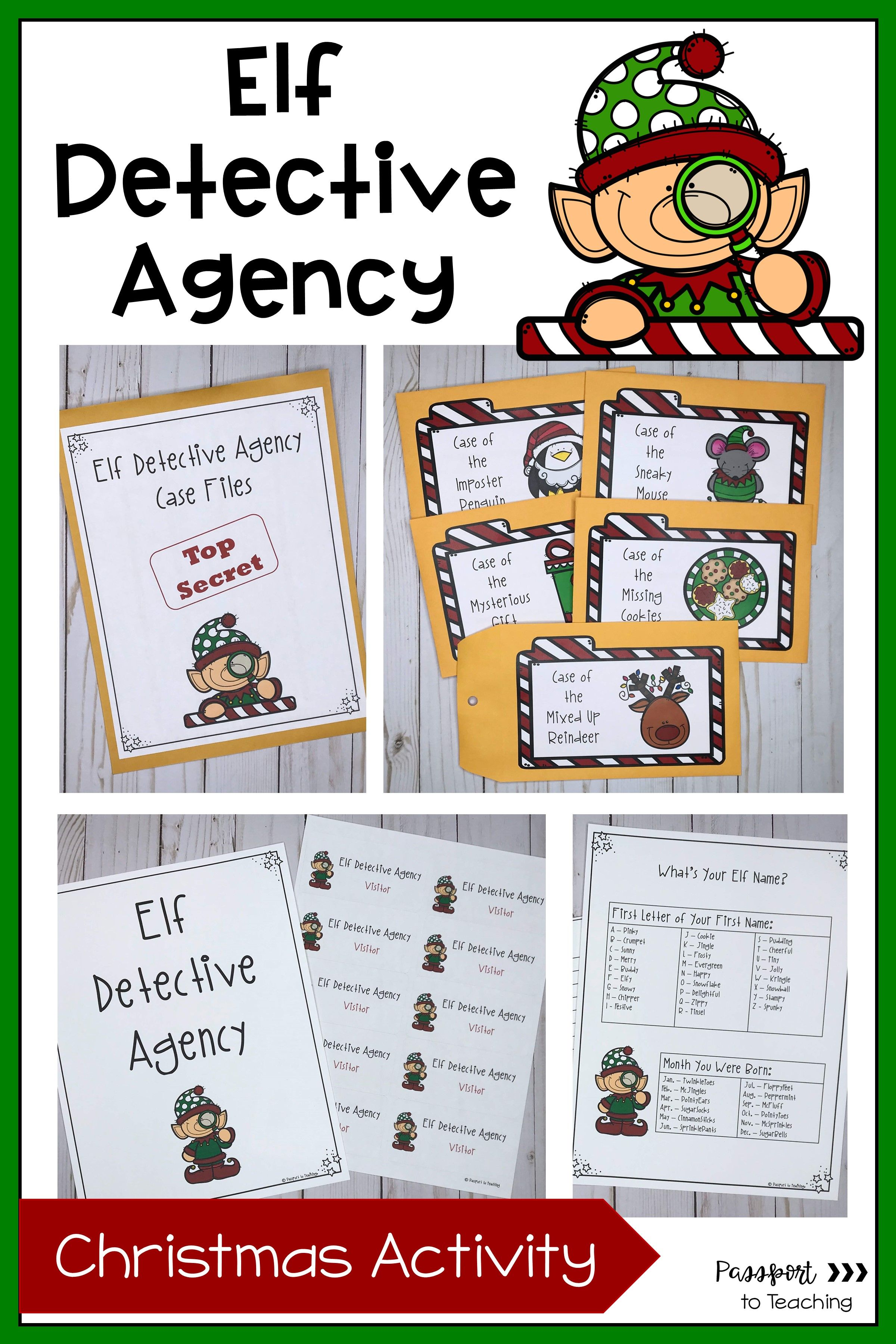 Elf Detective Agency Christmas Activity
