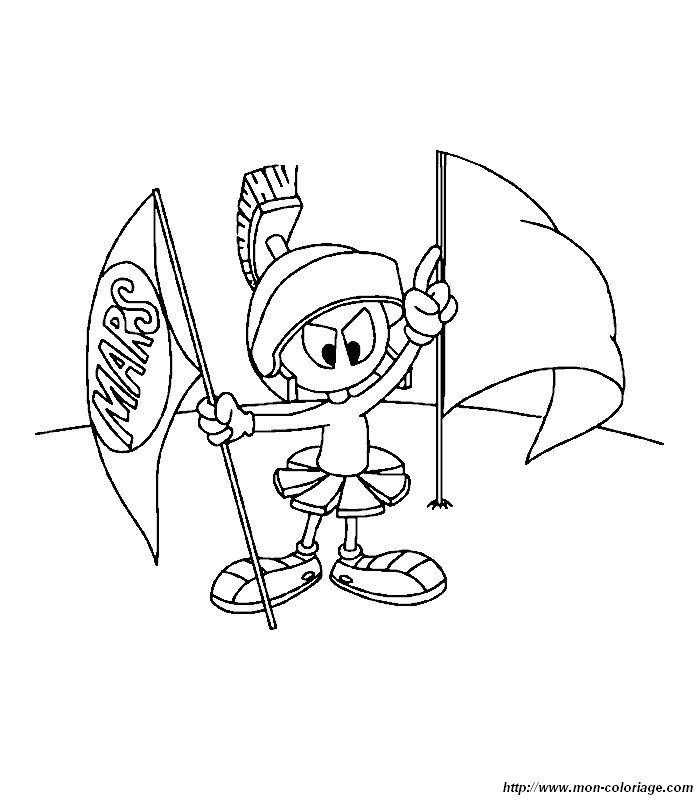 Marvin The Martian Coloring Page Cartoon Coloring Pages