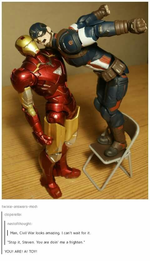Oh my gosh I love how they made Steve stand on a chair to make the height difference more accurate XD