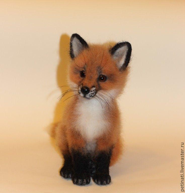 """Купить войлочная лисичка""""Юся"""" - рыжий, лиса, лисичка, лисенок, игрушка ручной работы, игрушка из шерсти"""