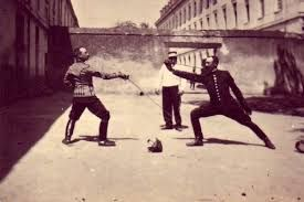 Image result for 19th century bayonetfencing image