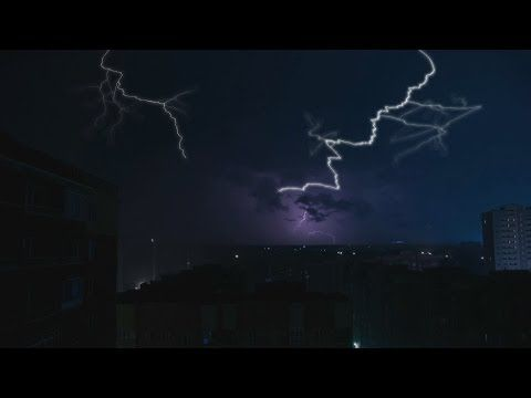 thunderstorm ambience and pouring rain sounds thunder