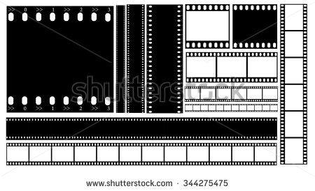 Filmstrip Illustration Vector Film Reel Strip Photography Mm Isolated Photo Square Slide Rectangle White Record Movie Monochrome Me Con Imagenes Pestanas Tex