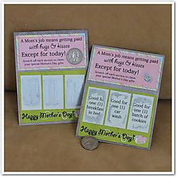Lottery Ticket for Mom made with Just Us *April* by Wendy Tunison Designs.
