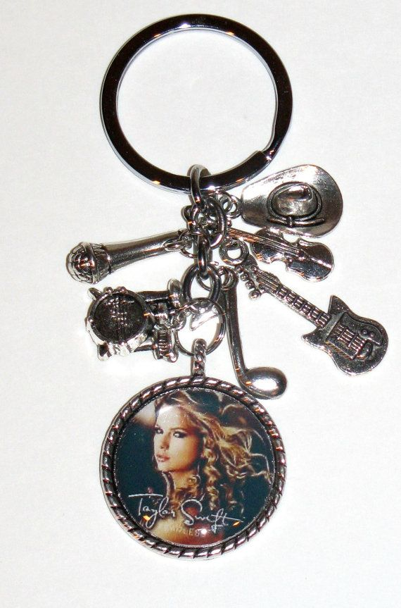 Taylor Swift KeychainKey Ring With Heavy Pendant by DixonsJewelry, $8.99