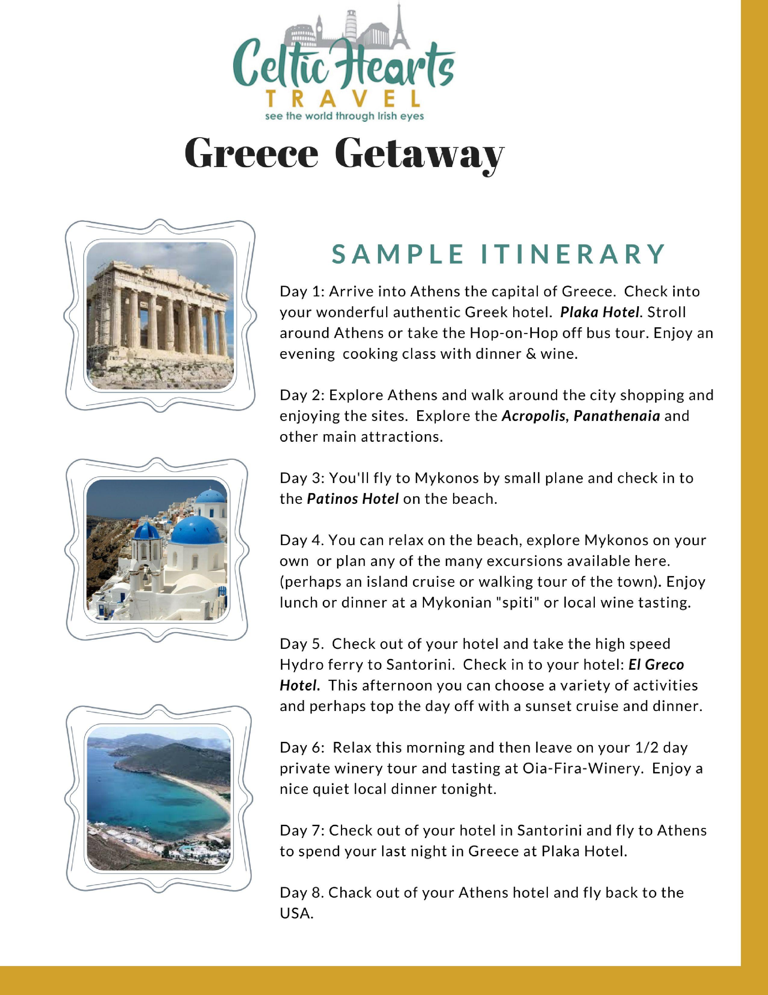 Homepage Greece Itinerary Greece Itinerary Sample