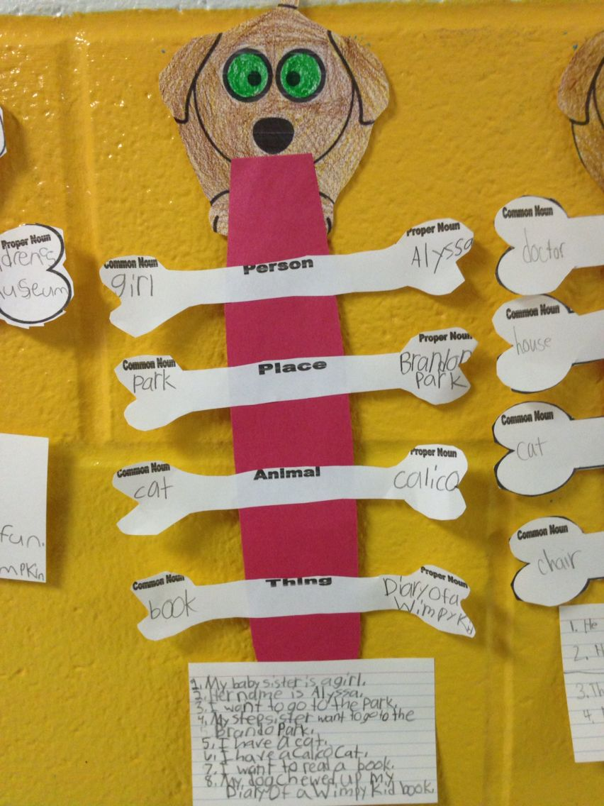 Tara And Tiree Extended Go Chart Activity Common Nouns And Proper