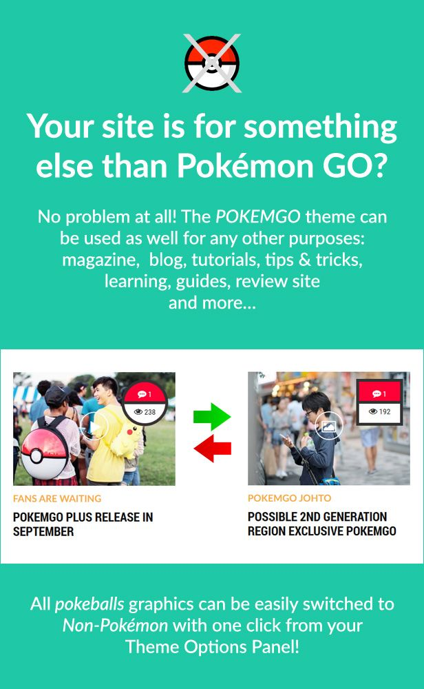 Pokemgo - WordPress Theme for tutorials, learning, guides, tips and tricks