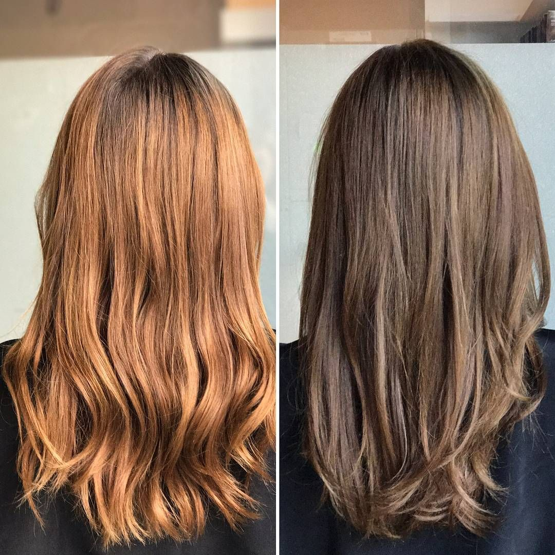 Back To Her Natural Hair Color We Used Veneto Light Brown 7nva At