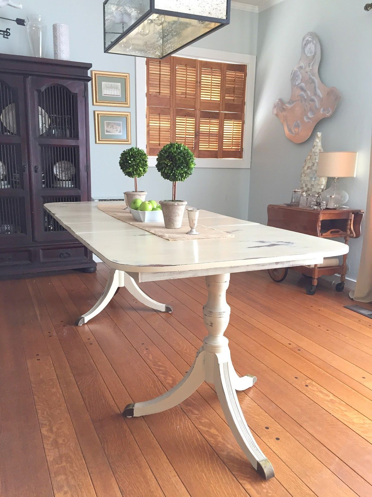 Duncan Phyfe Dining Table Painted With Annie Sloan Chalk Paint