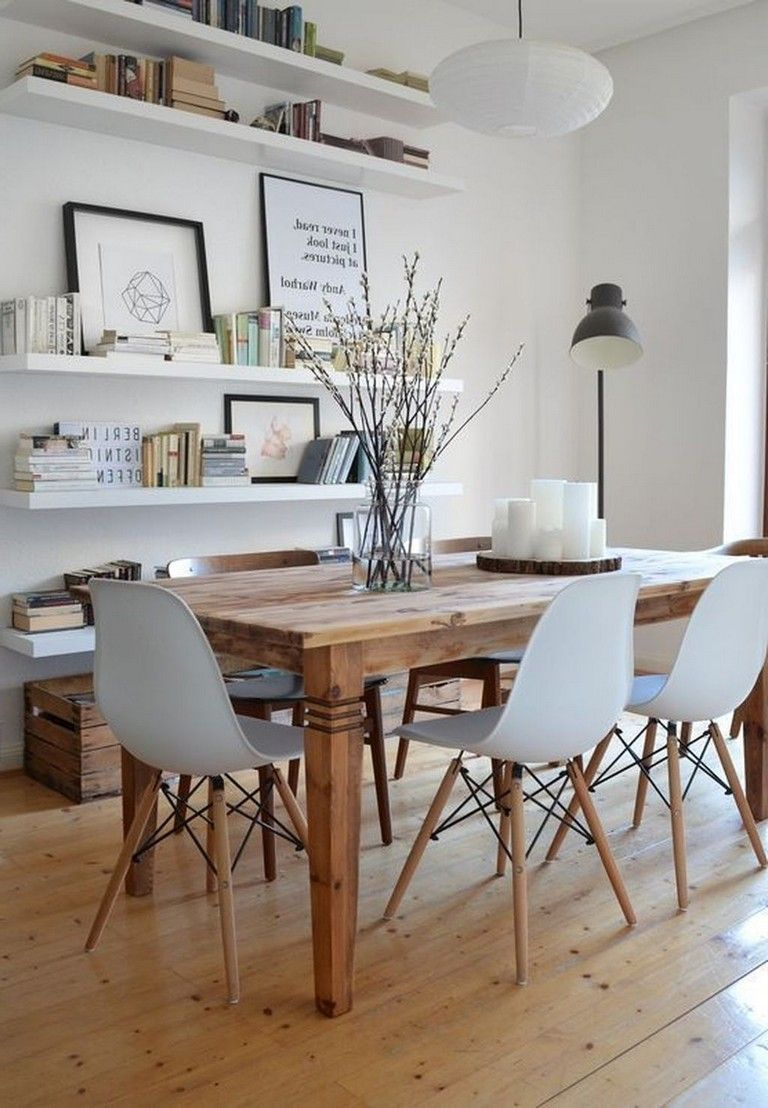 Dining Room Decor Ideas Modern Contemporary Style With Natural Wood Open Beam Ceiling Double Tab Dining Room Wall Decor Dining Room Design Dining Room Decor