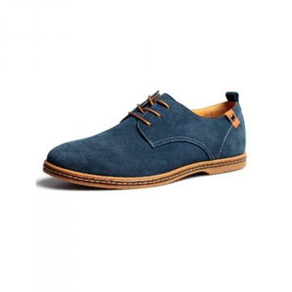 Chaussures homme simili daim style chic décontracté Oxford avec lacets