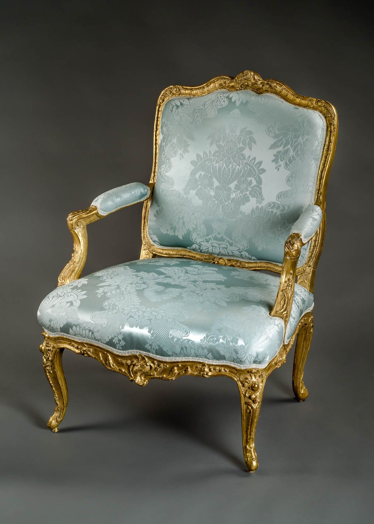very fine french early louis xv period fauteuil a la. Black Bedroom Furniture Sets. Home Design Ideas