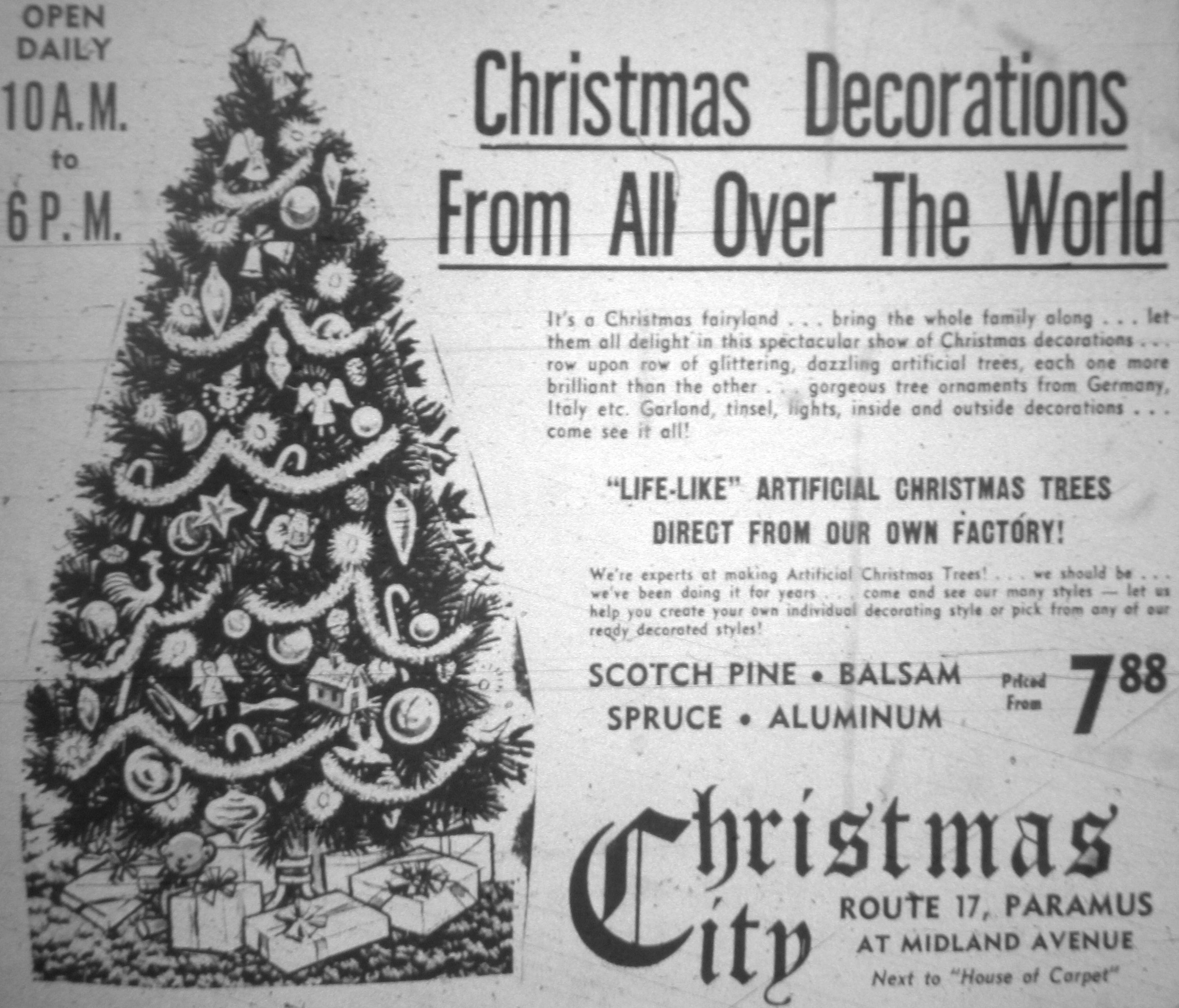 Christmas City in Paramus NJ 1960\u0027s