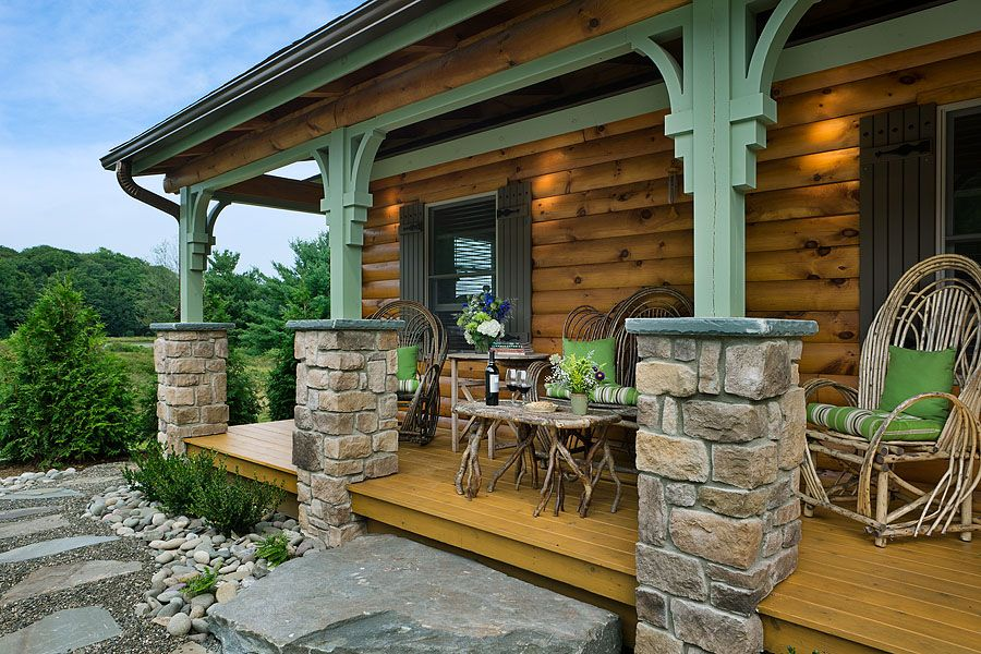 Coventry Log Homes | The Silver Ranch Front Porch | cabin ...