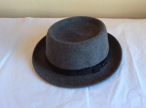 New #bailey hitch #porkpie in grey - mens hat -  #large.,  View more on the LINK: 	http://www.zeppy.io/product/gb/2/162068987902/