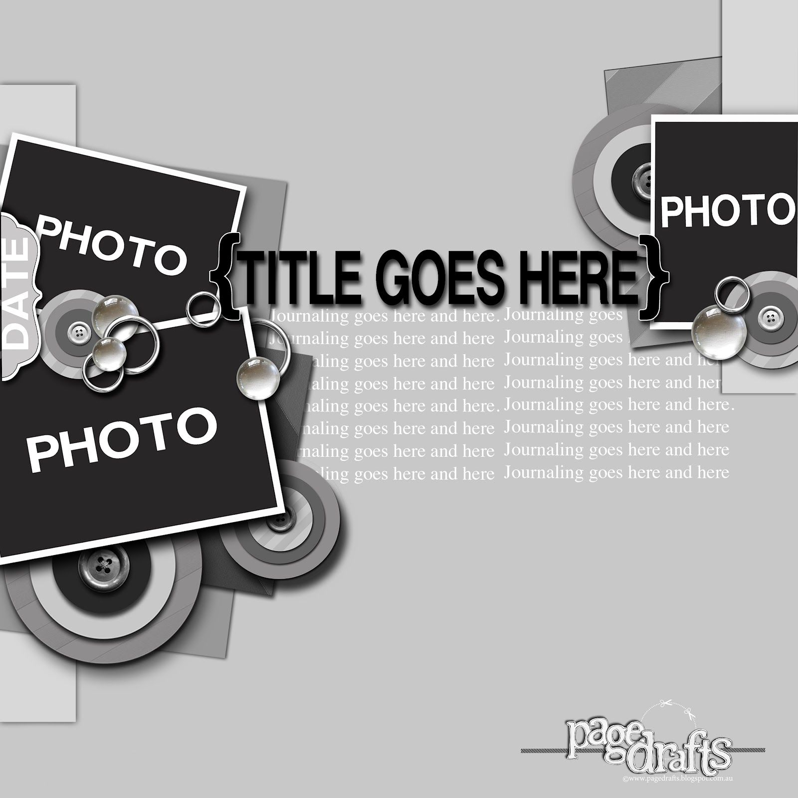 Page Drafts: 3 X PHOTOS