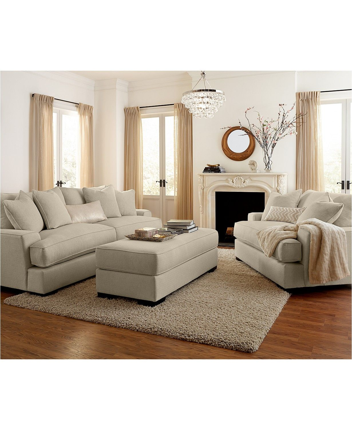 Furniture Ainsley Fabric Sofa Living Room Collection