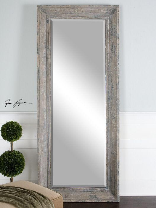 master retreat full Length mirror great size Love the reclaimed wood ...