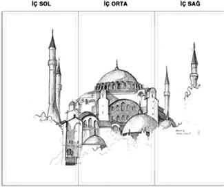 Ayasofya Kendin Tasarla Brosur Nanobilgi Hediye Hagia Sophia Mimari Cizim Taslaklari Turk Sanati