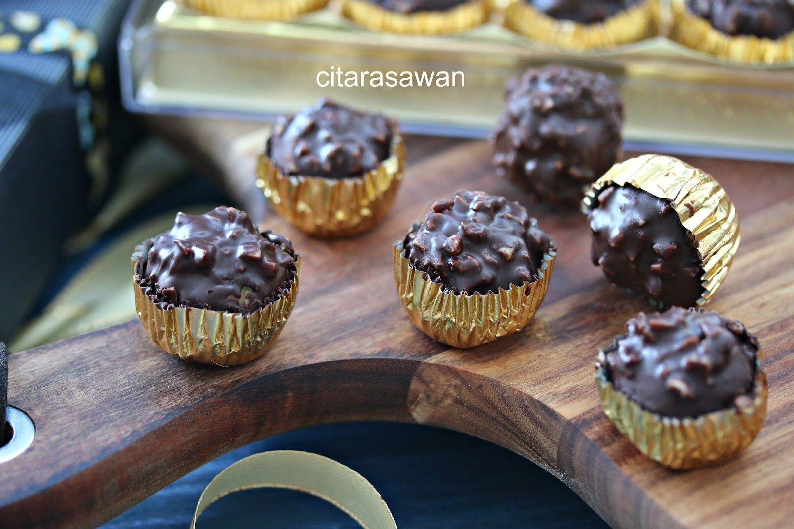 biskut ferrero rocher resepi terbaik   resep biskuit kue kering memanggang kue Resepi Biskut Ferrero Rocher Malaysia Enak dan Mudah