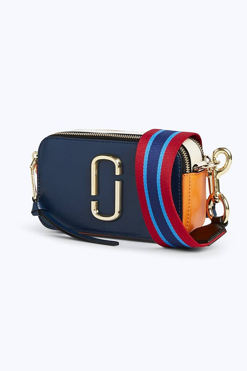 4408b9a797 Marc Jacobs Snapshot Small Camera Bag in Blue Sea Multi | Marc ...