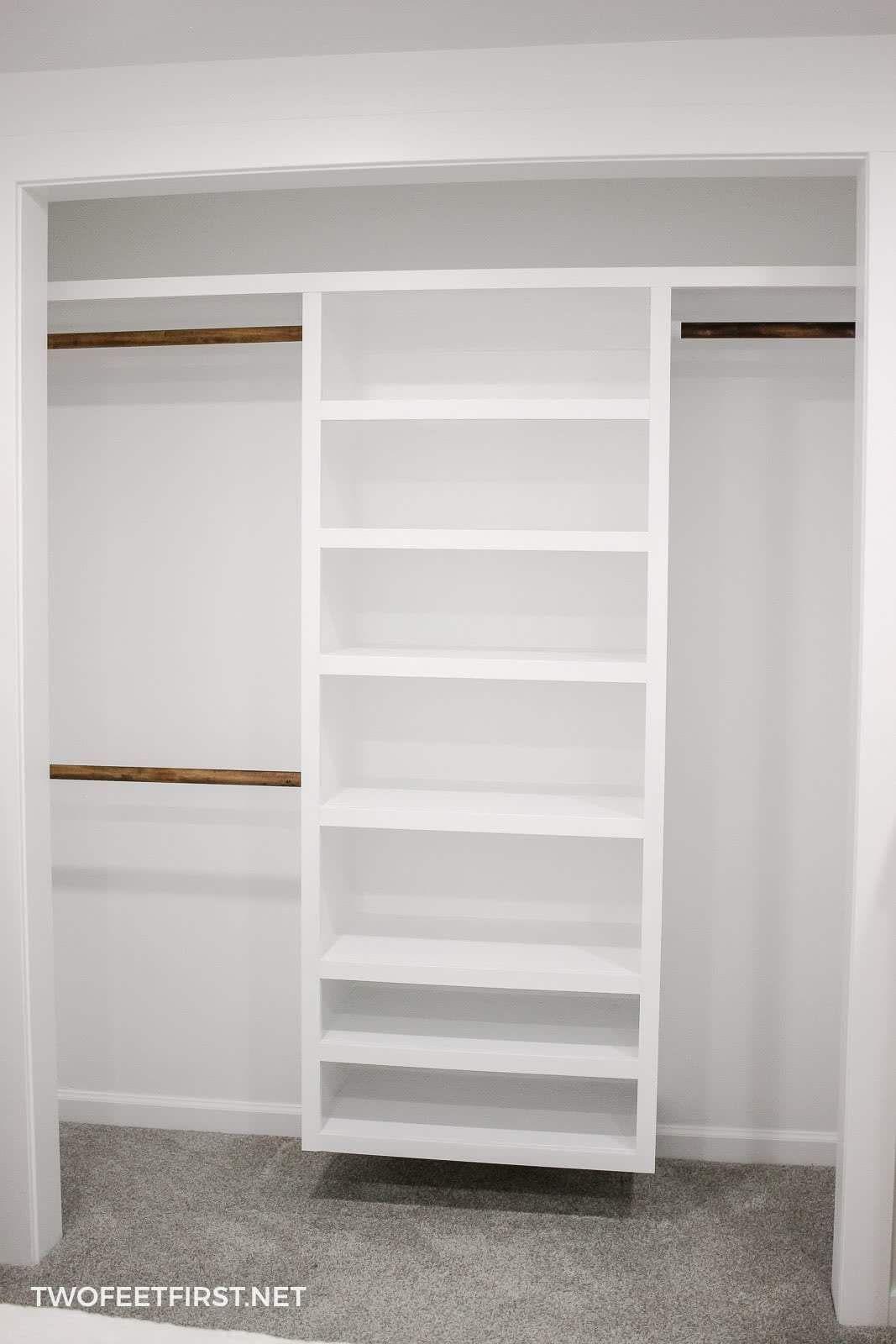 How To Build An Easy Diy Closet Organizer Build To Organize