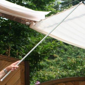 Glasdach sonnensegel 61x220 cm uni wei faltsonnensegel - Beschattung wintergarten seilspann ...